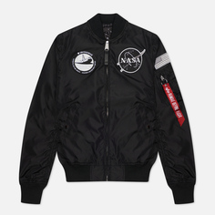 Женская куртка бомбер Alpha Industries MA-1 TT NASA Reversible, цвет чёрный, размер S