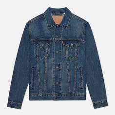 Мужская джинсовая куртка Levis Trucker, цвет синий, размер XL