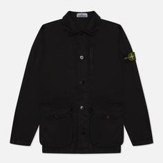 Мужская куртка Stone Island Brushed Cotton Canvas OLD, цвет чёрный, размер M