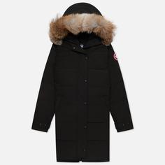 Женская куртка парка Canada Goose Shelburne, цвет чёрный, размер S