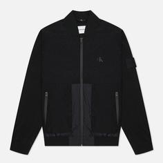 Мужская куртка бомбер Calvin Klein Jeans Technical, цвет чёрный, размер XL