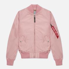 Женская куртка бомбер Alpha Industries MA-1 TT, цвет розовый, размер S