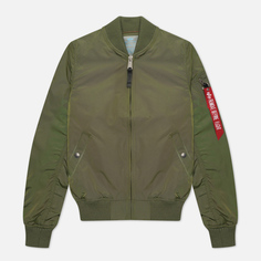 Женская куртка бомбер Alpha Industries MA-1 TT, цвет оливковый, размер M
