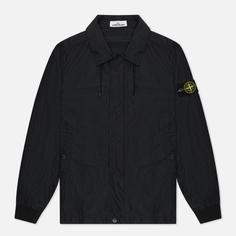 Мужская куртка Stone Island Micro Reps, цвет чёрный, размер S