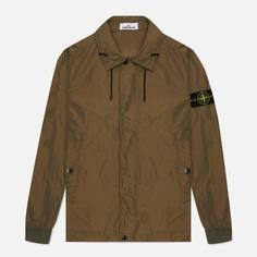 Мужская куртка Stone Island Micro Reps, цвет оливковый, размер XL