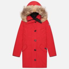 Женская куртка парка Canada Goose Rossclair, цвет красный, размер XS