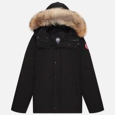 Мужская куртка парка Canada Goose Wyndham, цвет чёрный, размер S
