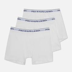 Комплект мужских трусов Polo Ralph Lauren Boxer Brief 3-Pack, цвет белый, размер L
