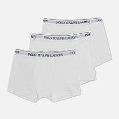 Комплект мужских трусов Polo Ralph Lauren Classic Trunk 3-Pack, цвет белый, размер L