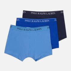 Комплект мужских трусов Polo Ralph Lauren Classic Trunk 3-Pack, цвет комбинированный, размер S
