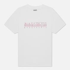 Женская футболка Napapijri Silea, цвет белый, размер XS