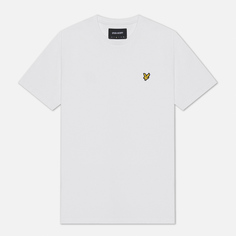 Мужская футболка Lyle & Scott Plain Crew Neck, цвет белый, размер XS