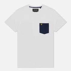 Мужская футболка Lyle & Scott Contrast Pocket, цвет белый, размер S