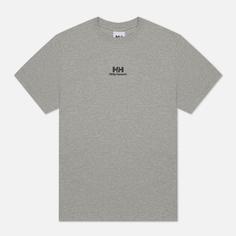 Мужская футболка Helly Hansen YU20 Logo, цвет серый, размер M