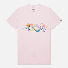 Мужская футболка Vans x Chris Johanson Floral, цвет розовый, размер M