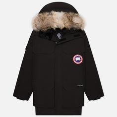 Мужская куртка парка Canada Goose Expedition RF, цвет чёрный, размер XS