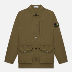 Мужская куртка Stone Island Brushed Cotton Canvas OLD, цвет оливковый, размер L