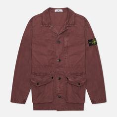 Мужская куртка Stone Island Brushed Cotton Canvas OLD, цвет бордовый, размер XL