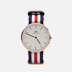 Наручные часы Daniel Wellington Classic Canterbury, цвет синий