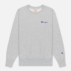 Женская толстовка Champion Reverse Weave Small Script & Logo Sleeve Crew Neck, цвет серый, размер L