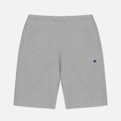 Мужские шорты Champion Reverse Weave Long Bermuda Brushed Fleece, цвет серый, размер S