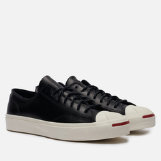 Мужские кеды Converse Jack Purcell Leather Low, цвет чёрный, размер 42.5 EU