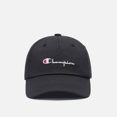 Кепка Champion Reverse Weave Baseball Script Logo, цвет чёрный