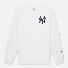 Мужская толстовка Champion Reverse Weave New York Yankees Crew Neck, цвет белый, размер S
