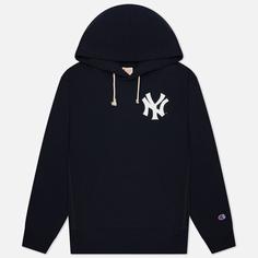 Мужская толстовка Champion Reverse Weave New York Yankees Hoodie, цвет синий, размер XL