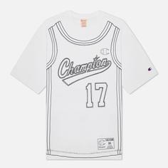 Мужская футболка Champion Reverse Weave Athletic Jersey Combed Number 17, цвет белый, размер XL