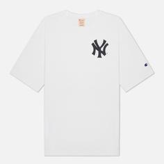 Мужская футболка Champion Reverse Weave New York Yankees Crew Neck, цвет белый, размер M