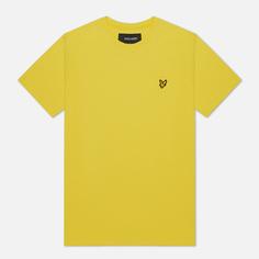 Мужская футболка Lyle & Scott Plain Crew Neck, цвет жёлтый, размер S