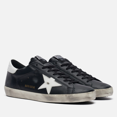 Мужские кроссовки Golden Goose Superstar Leather/Shiny Leather Star, цвет чёрный, размер 45 EU