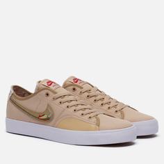 Мужские кроссовки Nike SB Blazer Court DVDL, цвет бежевый, размер 42.5 EU