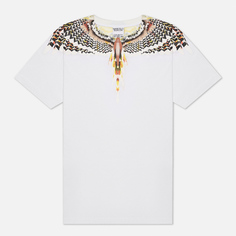 Мужская футболка Marcelo Burlon Grizzly Wings Regular, цвет белый, размер M