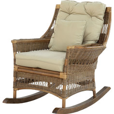 Кресло-качалка Rattan grand squeezing brown