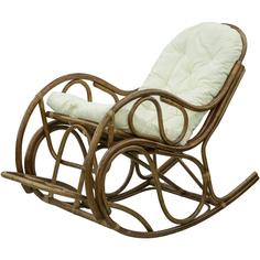 Кресло-качалка Rattan grand brown с подушкой