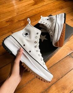 Белые походные кеды в стиле унисекс Converse Run Star-Белый