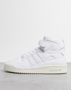 Высокие белые кроссовки adidas Originals Forum 84-Белый