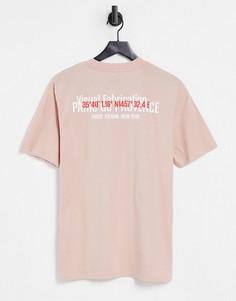 Узкая розовая футболка River Island-Розовый цвет