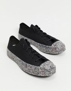 Черные кроссовки с трикотажным верхом Converse Chuck 70 Ox Renew-Черный цвет