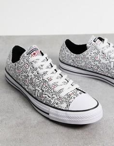 Белые кроссовки Converse X Keith Haring Chuck Taylor All Star Ox-Белый
