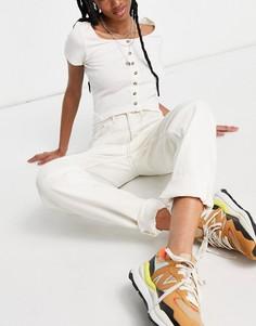 Белые джинсы в винтажном стиле River Island Carrie-Белый