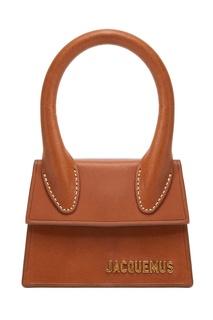 Коричневая кожаная сумка Le Chiquito Jacquemus
