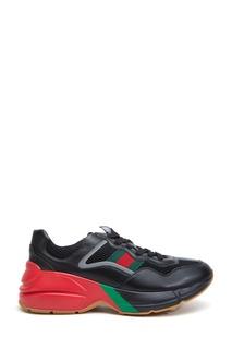 Черные комбинированные кроссовки Gucci