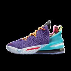 "Баскетбольные кроссовки LeBron 18 ""Best 10-18"" - Пурпурный Nike"