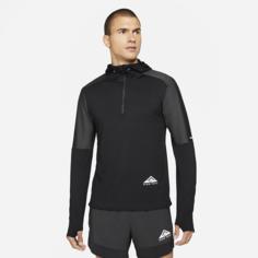 Мужская футболка для трейлраннинга с молнией на половину длины Nike Dri-FIT Trail Element - Черный