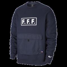 Флисовый футбольный свитшот с длинным рукавом FFF - Синий Nike