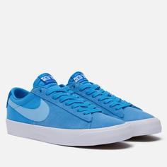 Кроссовки Nike SB Zoom Blazer Low Pro GT El Camino, цвет голубой, размер 40.5 EU