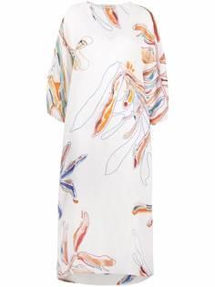 Gentry Portofino платье-трапеция макси с цветочным принтом
